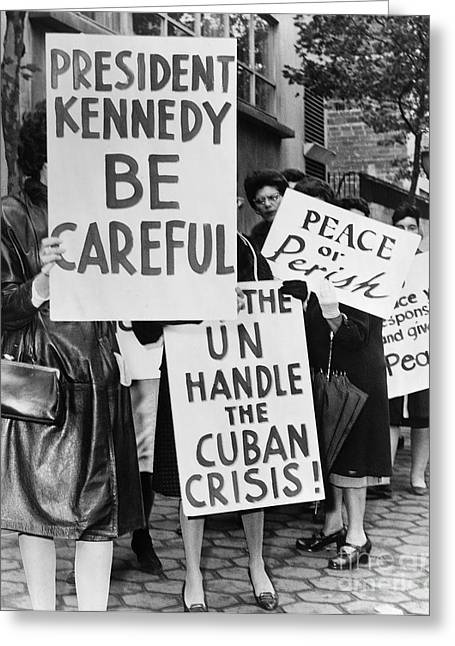 Cuban Missile Crisis Greeting Cards - Peace Protest, 1962 Greeting Card by Granger