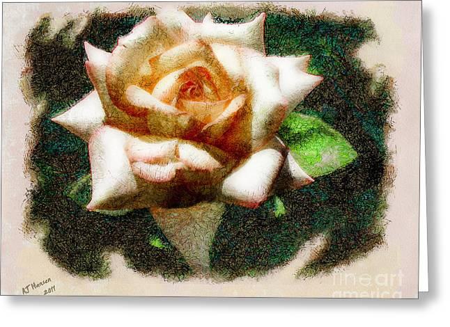 Aj Hansen Greeting Cards - Peace Rose Greeting Card by Arne Hansen