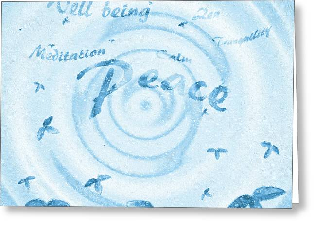 Hypnotic Greeting Cards - Peace  Greeting Card by Tom Gowanlock