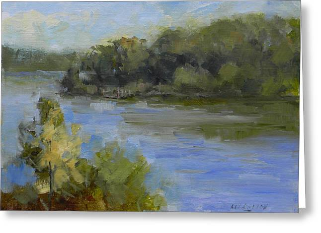 Lake Irene Greeting Cards - Peace Valley Park After the Storm Greeting Card by Kit Dalton
