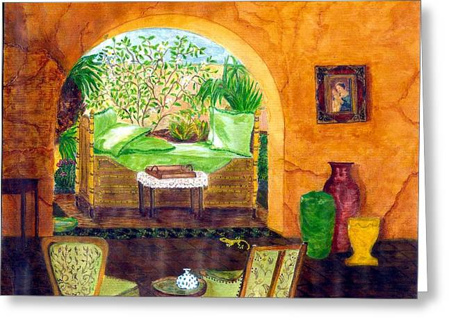 Daybed Greeting Cards - Peaceful Afternoon Greeting Card by Cheryl Carrabba