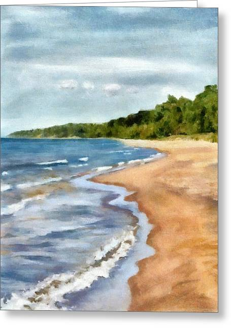 Michelle Greeting Cards - Peaceful Beach at Pier Cove ll Greeting Card by Michelle Calkins