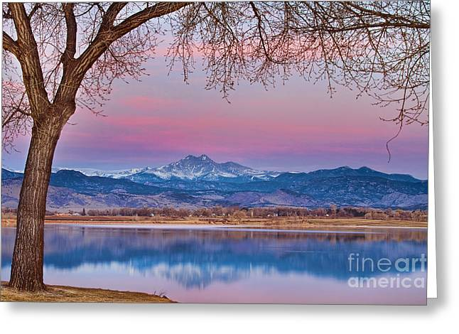 """nature Photography Prints"" Greeting Cards - Peaceful Early Morning First Light Longs Peak View Greeting Card by James BO  Insogna"