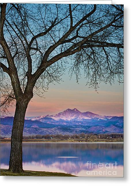 """nature Photography Prints"" Greeting Cards - Peaceful Early Morning Sunrise Longs Peak View Greeting Card by James BO  Insogna"