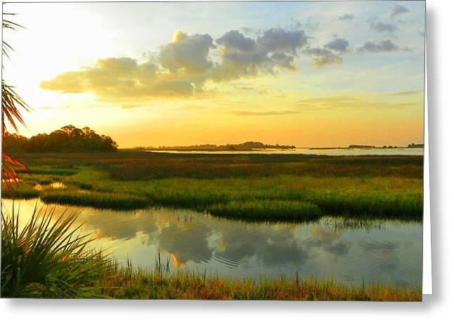 Cedar Key Greeting Cards - Peaceful Landscape Greeting Card by Sheri McLeroy