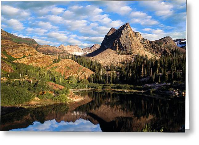 Blanche Greeting Cards - Peaceful Mountain Lake Greeting Card by Utah Images