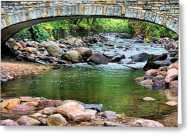 Beautiful Creek Digital Greeting Cards - Peaceful Place Greeting Card by Kristin Elmquist