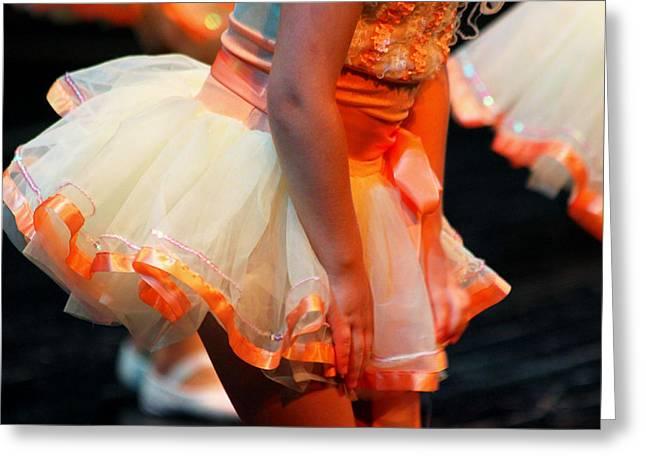 Dance Recital Greeting Cards - Peach Tutu Greeting Card by Lauri Novak