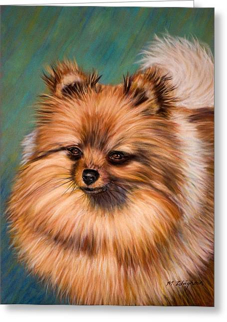 Metal Art Pastels Greeting Cards - Peaches and Cream Greeting Card by Michelle Wrighton