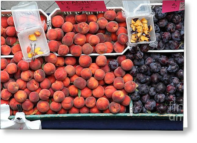 Peaches and Plums - 5D17913 Greeting Card by Wingsdomain Art and Photography