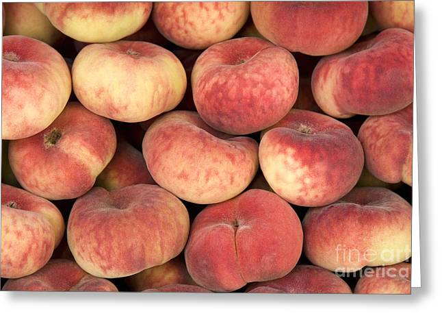 Peaches Greeting Card by Jane Rix