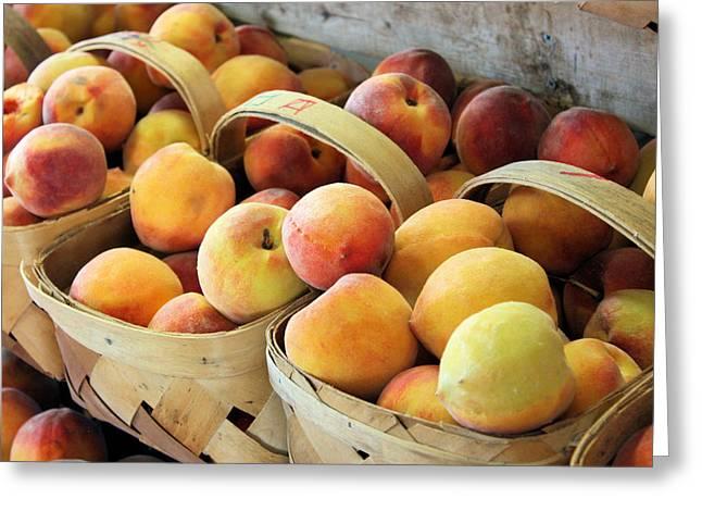Peaches Greeting Card by Kristin Elmquist