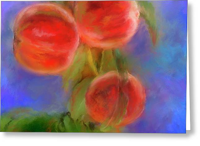 Peachy Keen Greeting Card by Colleen Taylor