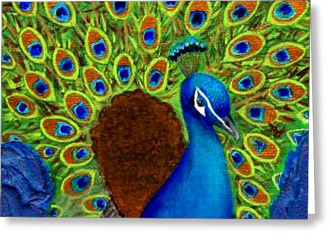 Peacock's Delight Greeting Card by The Art With A Heart By Charlotte Phillips