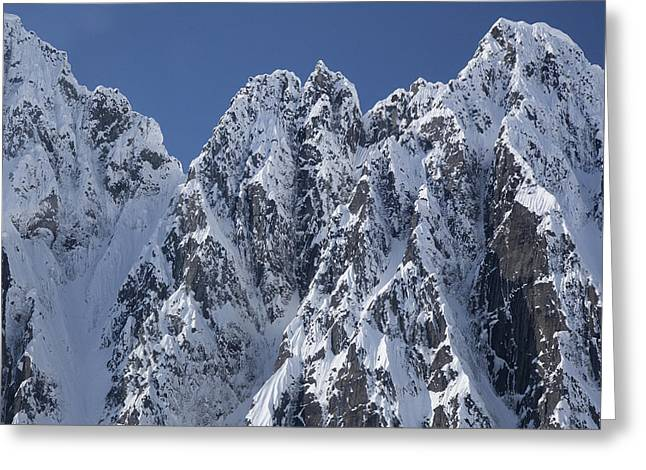 Peaks Of Takhinsha Mountains Greeting Card by Matthias Breiter
