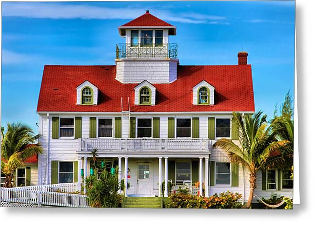 Florida House Greeting Cards - Peanut Island Greeting Card by Debra and Dave Vanderlaan
