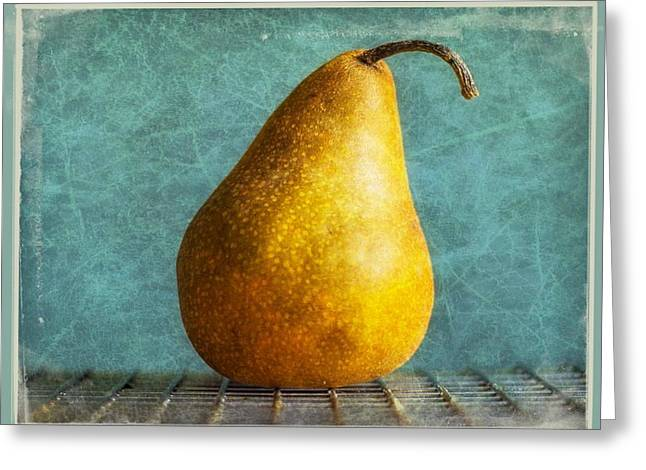 Pear Art Digital Art Greeting Cards - Pear Greeting Card by Cathie Tyler