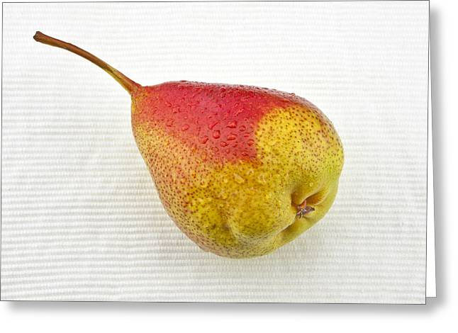 Food And Beverage Greeting Cards - Pear Greeting Card by Joana Kruse