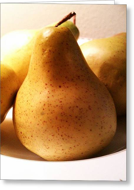 Pear Pyrography Greeting Cards - Pear Greeting Card by Ruthie Snow-Cruce