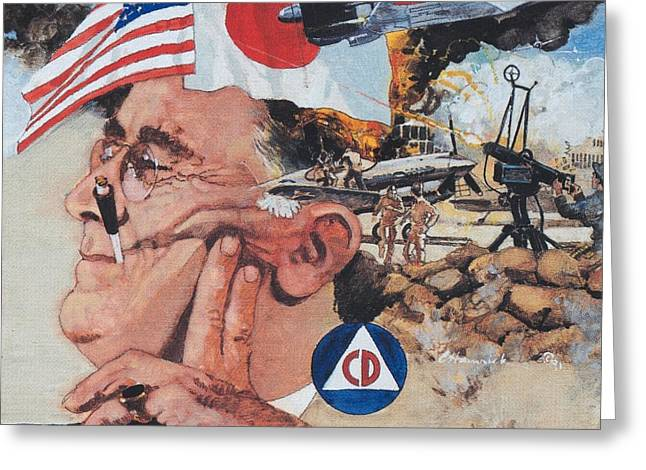 Franklin Roosevelt Paintings Greeting Cards - Pearl Harbor Greeting Card by Chuck Hamrick