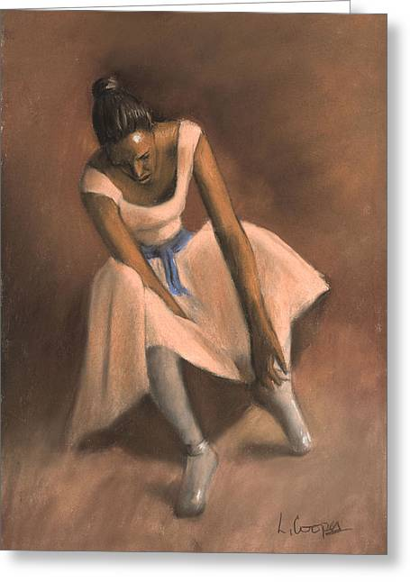 Ballet Dancers Pastels Greeting Cards - Pearl Joy Greeting Card by L Cooper