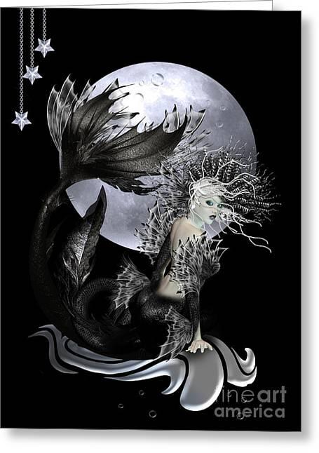 Mermaid Fantasy Art Greeting Cards - Pearl Greeting Card by Shanina Conway