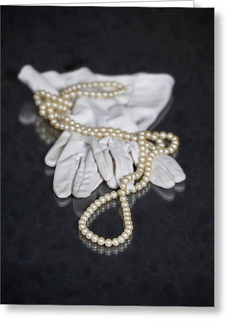 Jewellery Greeting Cards - Pearls And Gloves Greeting Card by Joana Kruse