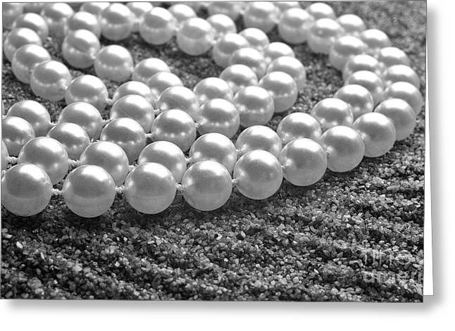 Apparel Greeting Cards - Pearls and sand Greeting Card by Gabriela Insuratelu
