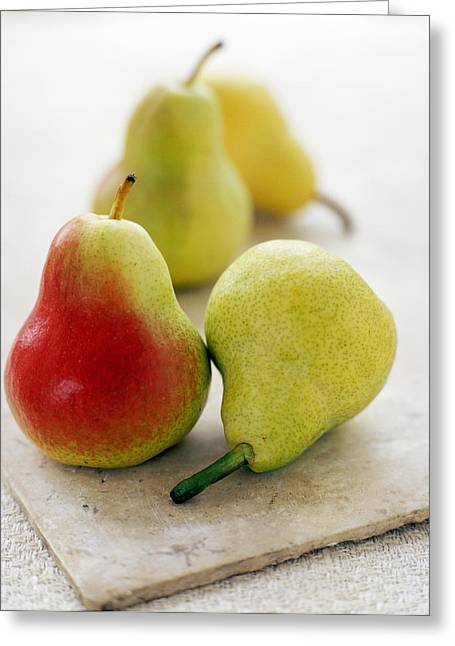 Quartet Greeting Cards - Pears Greeting Card by David Munns