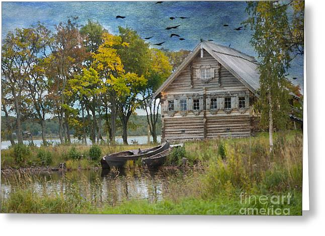 Open-air Greeting Cards - Peasant House. Kizhi Island. Russia. Greeting Card by Juli Scalzi