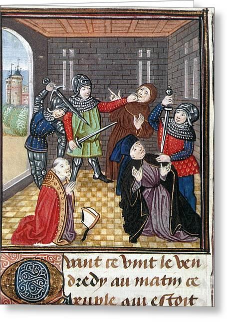 Bishop Hill Greeting Cards - Peasants Revolt, 1381 Greeting Card by Granger