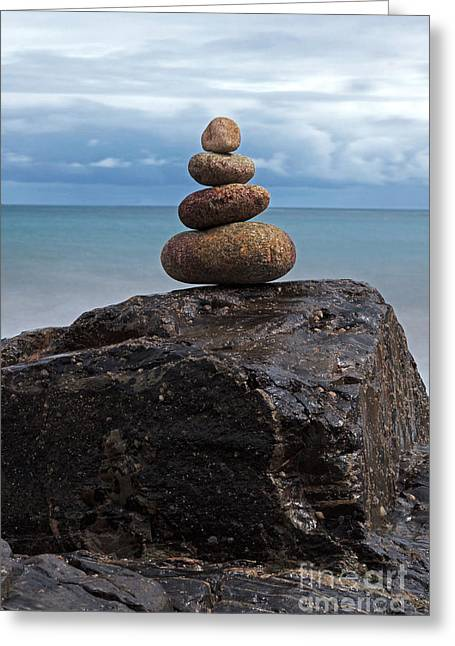 Seacape Greeting Cards - Pebble sculpture Greeting Card by Richard Thomas