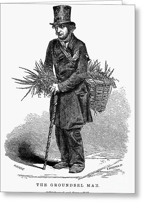 Peddler Greeting Cards - PEDDLER, 19th CENTURY Greeting Card by Granger
