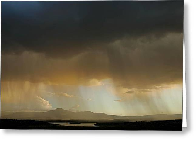 Chama River Greeting Cards - Pedernal Peak, Seen In The Distance Greeting Card by Ralph Lee Hopkins