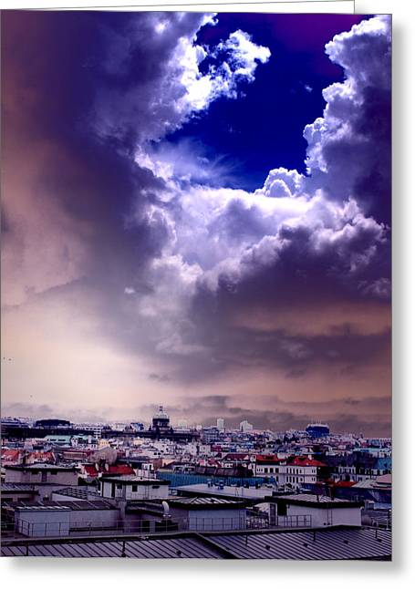 Florence Greeting Cards - Peek of Heaven Greeting Card by Sarah Jean Sylvester