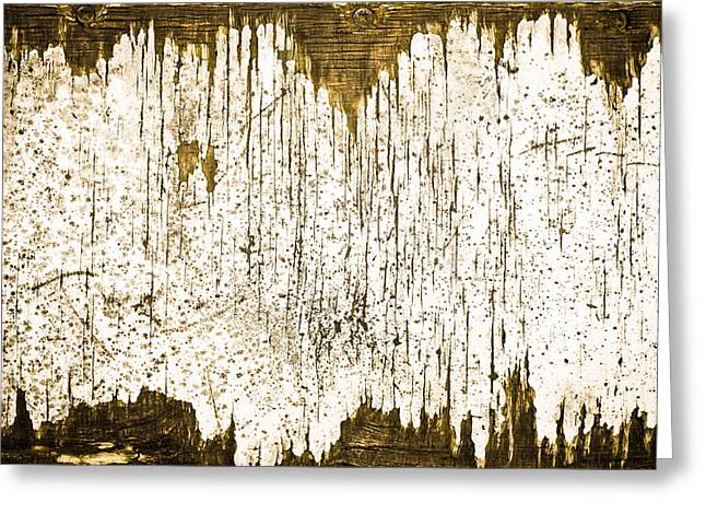 Beige Background Greeting Cards - Peeling paint Greeting Card by Tom Gowanlock