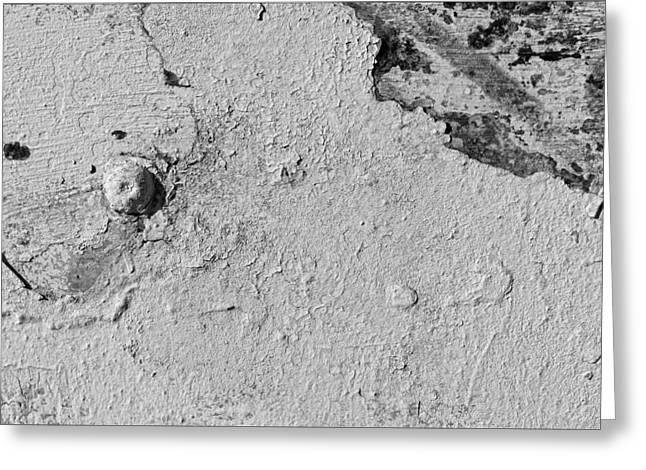 Interior Still Life Photographs Greeting Cards - Peeling White Paint Greeting Card by Robert Ullmann