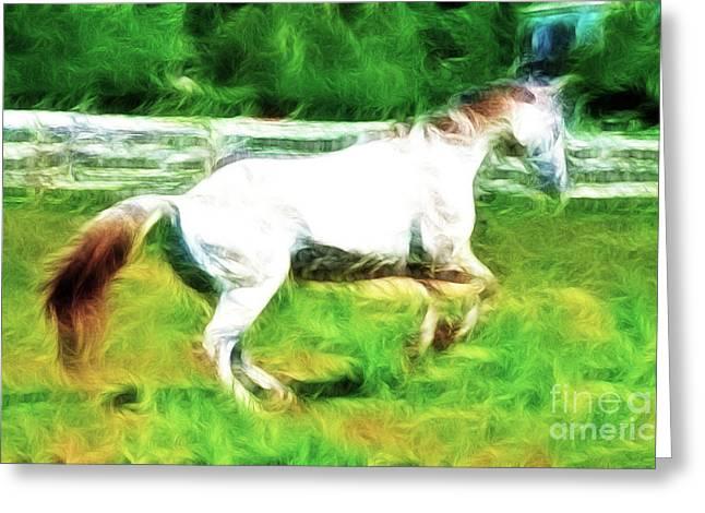 Fractalius Art Greeting Cards - Pegasus Impression Greeting Card by Paul Ward