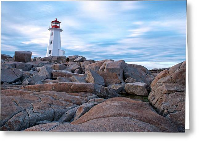 Halifax Photography Halifax Nova Scotia Greeting Cards - Peggys Cove Lighthouse Greeting Card by Andre Distel