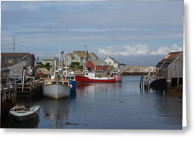 Peggy's Cove Greeting Card by Nick Sayles