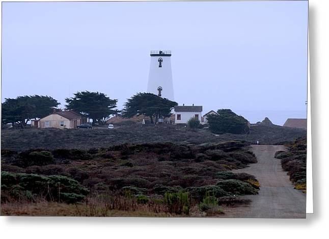Cambria Greeting Cards - Peidras Blancas Lighthouse Greeting Card by Eric Tressler