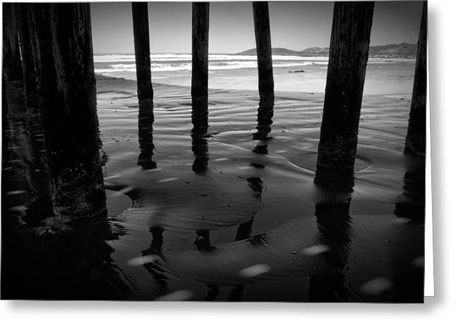 Dark Water Greeting Cards - Peir Legs Greeting Card by Matt  Trimble