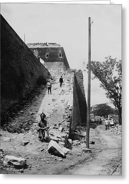 Peking Greeting Cards - Peking China - Dead Mans Climb - Southern Gate - c 1902 Greeting Card by International  Images