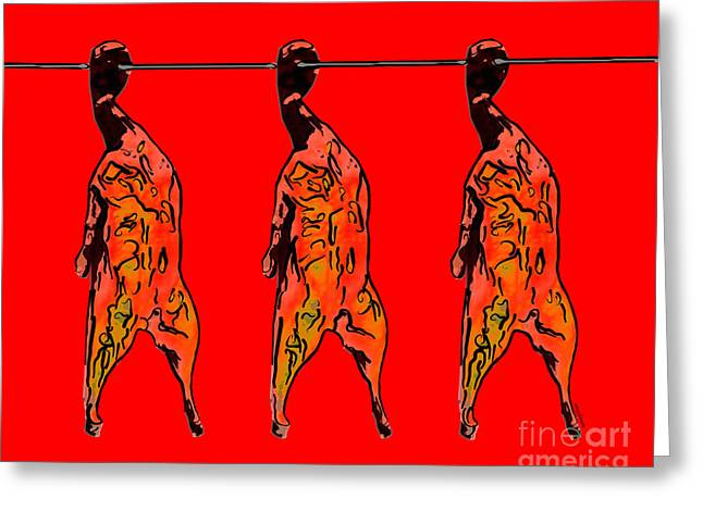 Food Digital Greeting Cards - Peking Duck Pop Art Greeting Card by Wingsdomain Art and Photography