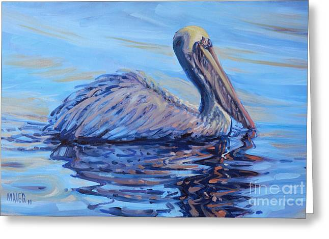 Waterbird Greeting Cards - Pelican Greeting Card by Donald Maier