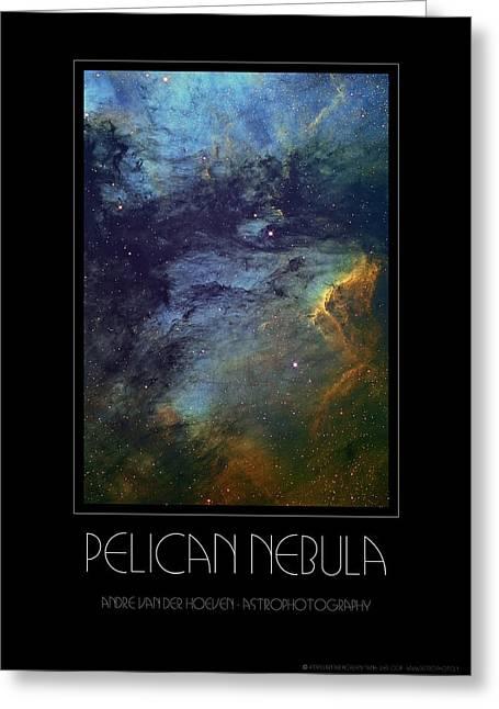 Deepsky Greeting Cards - Pelican Nebula Greeting Card by Andre Van der Hoeven