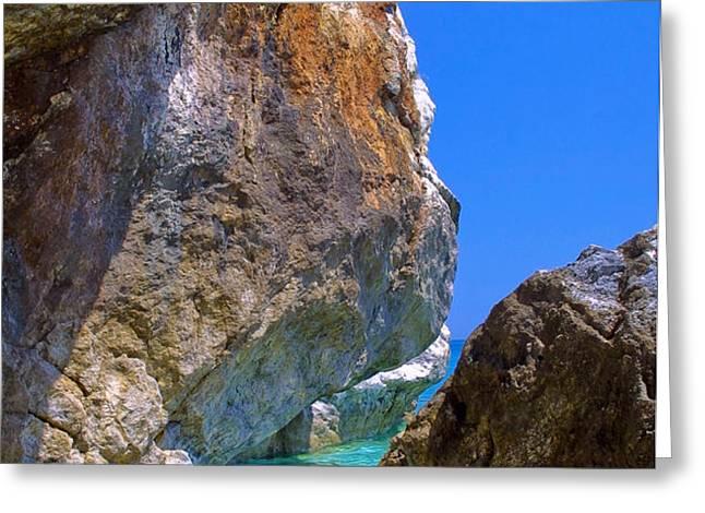 Pelion Rocks Greeting Card by Neil Buchan-Grant