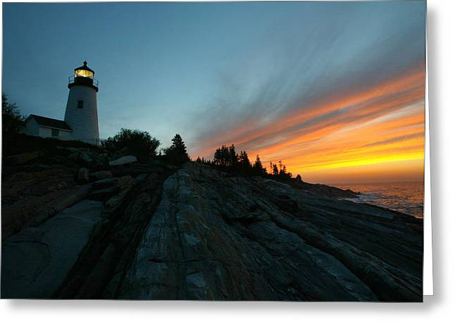David Yunker Greeting Cards - Pemaquid Greeting Card by David Yunker