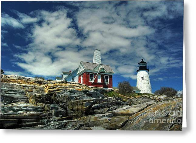 Pemaquid Lighthouse Greeting Card by Alana Ranney