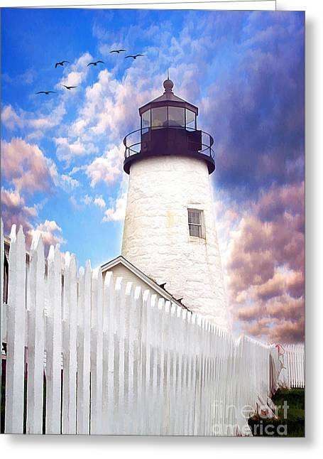 Pemaquid Point Greeting Card by Darren Fisher